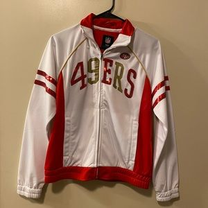 San Francisco 49ners zip up sweater